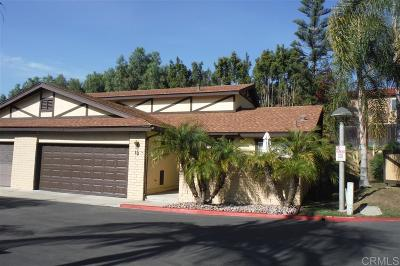 Chula Vista Townhouse For Sale: 75 Third Ave #10