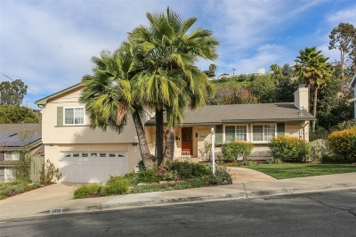 San Diego Single Family Home For Sale: 5056 College Gardens Ct