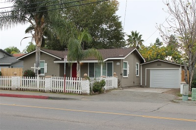 Escondido Single Family Home For Sale: 825 N Fig St.