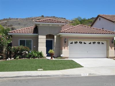 San Marcos Single Family Home Sold: 729 Via Barquero