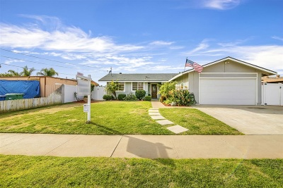 el cajon Single Family Home For Sale: 648 Wichita Ave