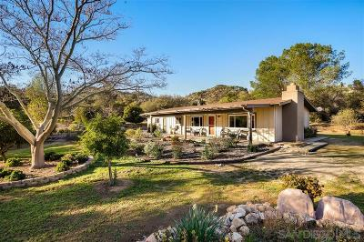 Fallbrook Single Family Home For Sale: 40007 Daily Rd