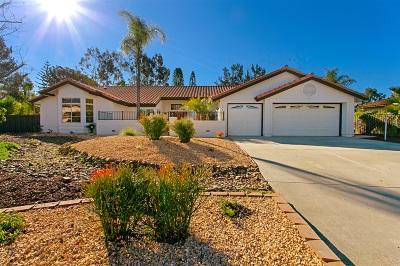 Escondido Single Family Home For Sale: 1995 Trousdale Pl