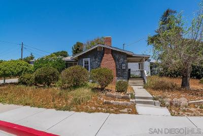 La Mesa Single Family Home For Sale: 4911 Glen