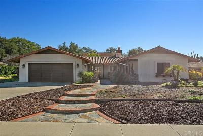 Fallbrook Single Family Home For Sale: 2748 Secret Lake Ln