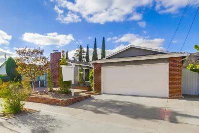 San Diego Single Family Home For Sale: 6866 Renkrib