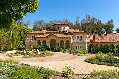 Rancho Santa Fe Single Family Home For Sale: 17335 Calle Mayor