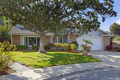 el cajon Single Family Home For Sale: 1222 Mona Place