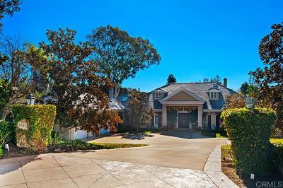 Rancho Santa Fe Single Family Home Pending: 16625 Via Lago Azul