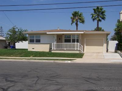 Clairemont Single Family Home For Sale: 4486 Ute Dr