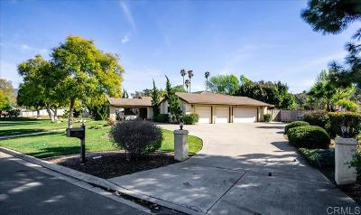 el cajon Single Family Home For Sale: 3409 Heatherwood Drive