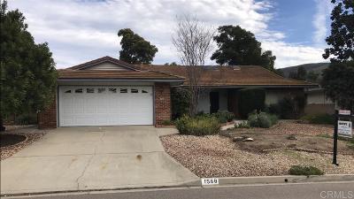 San Marcos Single Family Home Pending: 1568 San Pablo Drive