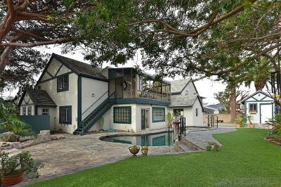 La Jolla Single Family Home For Sale: 414 Camino De La Costa