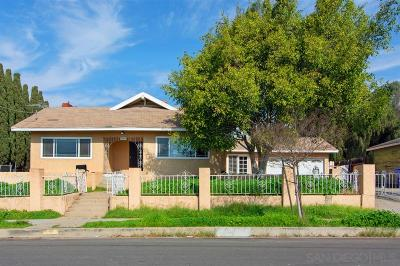 San Diego Single Family Home Sold: 6140 Wunderlin Ave