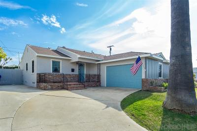 San Diego Single Family Home For Sale: 6451 Birchwood St