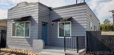 San Diego Single Family Home Sold: 4096 Menlo Ave