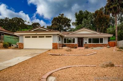 Bonita Single Family Home For Sale: 3676 Corral Canyon Rd