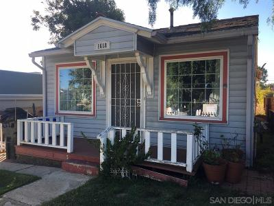 South Park, Golden Hill Single Family Home For Sale: 1618 32nd St
