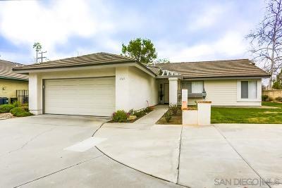 Escondido Single Family Home For Sale: 1165 Catspaw Place
