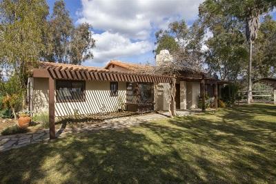 Valley Center Single Family Home For Sale: 27505 Sunset Vista Ln