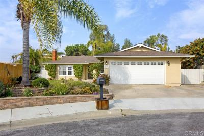 Oceanside Single Family Home For Sale: 4040 Echo Pl
