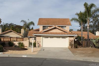 Escondido Single Family Home For Sale: 826 Lanewood Pl