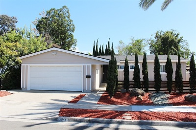 San Diego Single Family Home For Sale: 5041 Faber Way