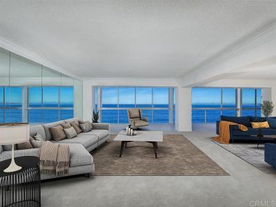 La Jolla Attached For Sale: 939 Coast Blvd #6BC