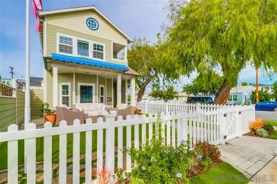 Coronado Single Family Home For Sale: 800 H Avenue