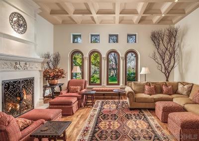 Rancho Santa Fe CA Single Family Home For Sale: $5,650,000