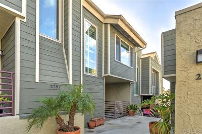 Point Loma Townhouse For Sale: 2257 Worden St #3