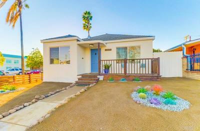 San Diego Single Family Home Sold: 3804 Chamoune Ave