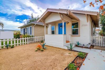San Diego Single Family Home Pending: 3724 Bancroft St