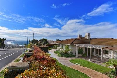 La Jolla CA Single Family Home For Sale: $3,150,000