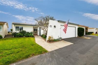 Oceanside Single Family Home For Sale: 3890 Vista Campana S #64