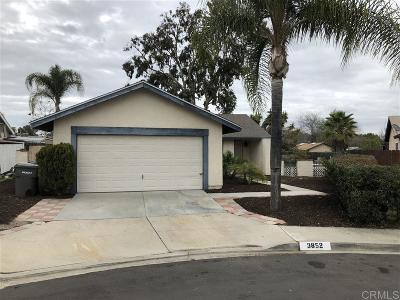 San Marcos Rental For Rent: 3852 La Campana Ct