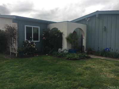 Oceanside Single Family Home Contingent: 3837 Bayleaf Way