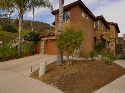 Escondido Single Family Home For Sale: 8990 Courtyard View Dr
