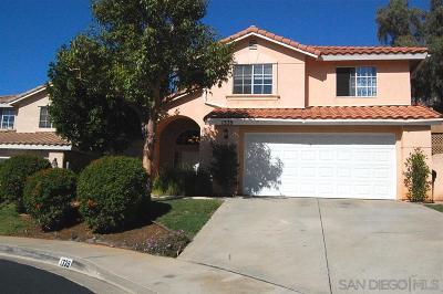 el cajon Single Family Home For Sale: 1339 Navello Terrace