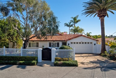 Encinitas Single Family Home For Sale: 1411 Coop St.