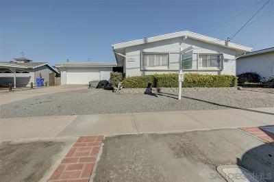 Clairemont Single Family Home For Sale: 4982 Mt. Ashmun Drive