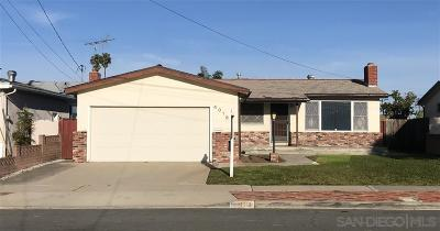 San Diego CA Single Family Home For Sale: $599,500