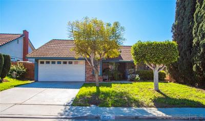 San Diego Single Family Home For Sale: 6275 Pastor Timothy J Winters St
