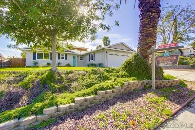 Santee Single Family Home For Sale: 9449 Hornbuckle