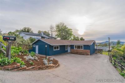 el cajon Single Family Home For Sale: 1744 Terrace Hill Drive