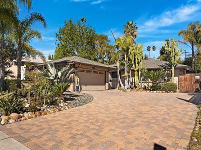 San Diego Single Family Home For Sale: 6831 Jackson Dr.