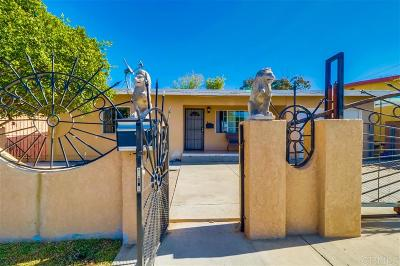 Single Family Home For Sale: 1503 Palm Ave