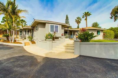 Carlsbad Single Family Home For Sale: 3805 Alder Ave