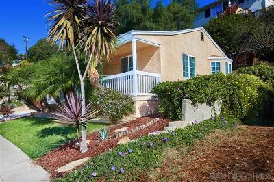 San Diego Single Family Home For Sale: 4469 Revillo Drive