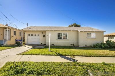 San Diego Single Family Home For Sale: 6067 Schuyler St